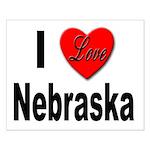 I Love Nebraska Small Poster