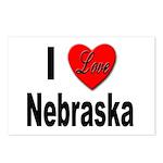 I Love Nebraska Postcards (Package of 8)