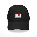 I Love Nebraska Black Cap