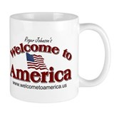 Welcome to America logo Mug