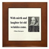 Shakespeare 9 Framed Tile