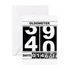 40th Birthday Oldometer Greeting Card