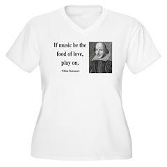 Shakespeare 10 Women's Plus Size V-Neck T-Shirt