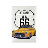 Illinois Route 66 Rectangle Magnet