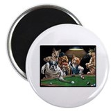 Dogs Playing Pool Magnet
