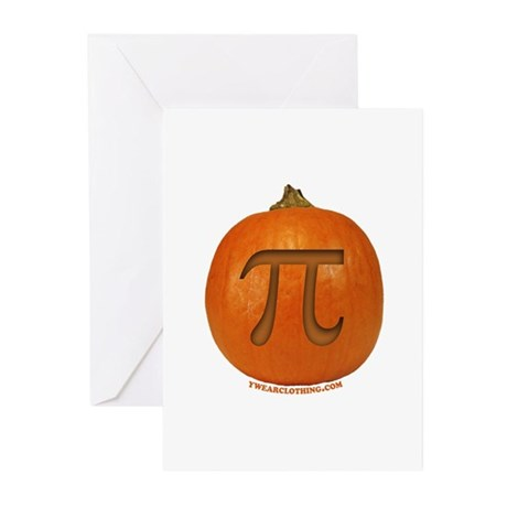 Pumpkin Pi 2 Greeting Cards (Pk of 10)