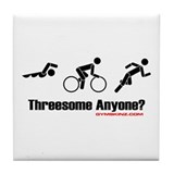 """Threesome Anyone?"" Tile Coaster"