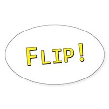 Flip! - Oval Decal