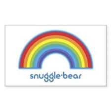 snuggle-bear (rainbow) Rectangle Decal