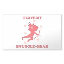 SNUGGLE-BEAR (cherub) Rectangle Decal