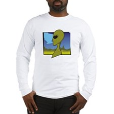 Alien Head Landscape 1 - Long Sleeve T-Shirt
