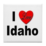 I Love Idaho Tile Coaster