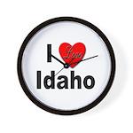 I Love Idaho Wall Clock