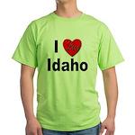 I Love Idaho Green T-Shirt