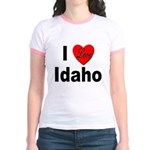 I Love Idaho (Front) Jr. Ringer T-Shirt