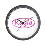 Logo Name Kayla Wall Clock