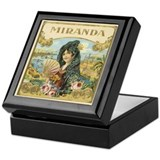 Vintage Miranda Cigar Label Keepsake Box
