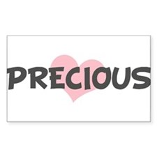 PRECIOUS (pink heart) Rectangle Decal