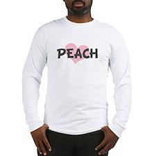 PEACH (pink heart) Long Sleeve T-Shirt