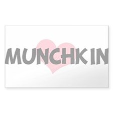 MUNCHKIN (pink heart) Rectangle Decal