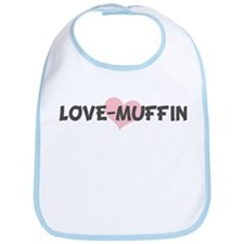 LOVE-MUFFIN (pink heart) Bib