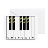 Piano Note Names Greeting Cards (Pk of 10)