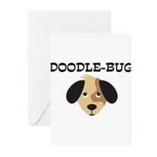 DOODLE-BUG (dog) Greeting Cards (Pk of 10)