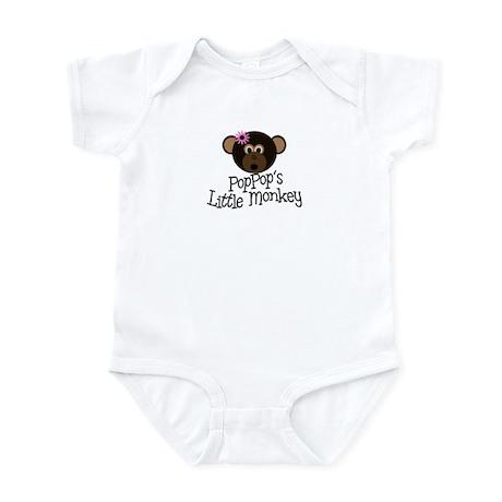 PopPop's Little Monkey GIRL Infant Bodysuit