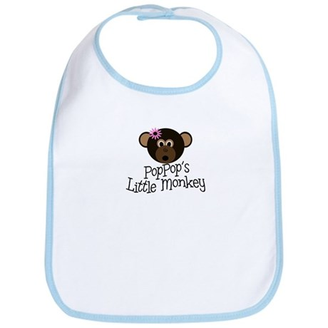 PopPop's Little Monkey GIRL Bib