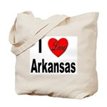 I Love Arkansas Tote Bag
