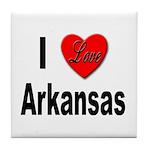I Love Arkansas Tile Coaster