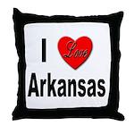 I Love Arkansas Throw Pillow