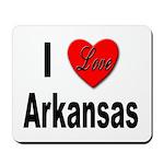 I Love Arkansas Mousepad