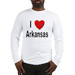 I Love Arkansas (Front) Long Sleeve T-Shirt