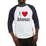 I Love Arkansas (Front) Baseball Jersey