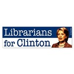 Librarians for Clinton bumper sticker