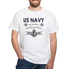 Navy Grandson defending Shirt