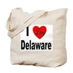 I Love Delaware Tote Bag