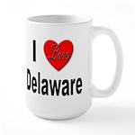 I Love Delaware Large Mug