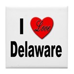 I Love Delaware Tile Coaster