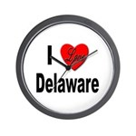 I Love Delaware Wall Clock