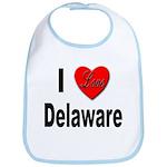 I Love Delaware Bib