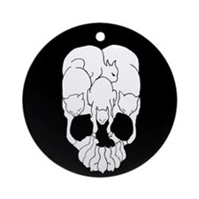 Cats Skull Ornament (Round)