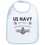 Navy Father Defending Bib