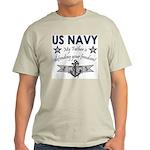 Navy Father Defending Ash Grey T-Shirt