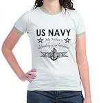 Navy Father Defending Jr. Ringer T-Shirt