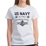 Navy Father Defending Women's T-Shirt