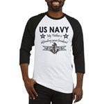 Navy Father Defending Baseball Jersey