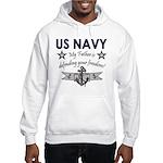 Navy Father Defending Hooded Sweatshirt