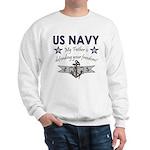 Navy Father Defending Sweatshirt